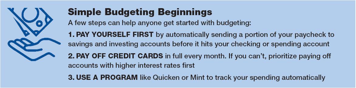 Simple budgeting beginnings